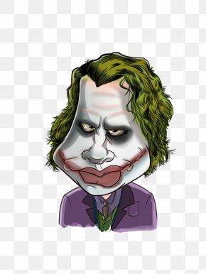 Joker - Joker Heath Ledger Caricature Cartoon PNG