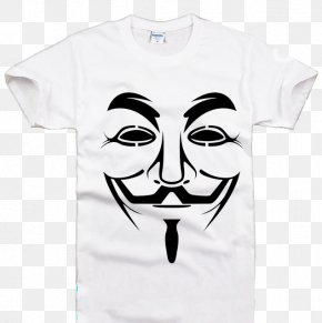 T-shirt - V Guy Fawkes Mask T-shirt Guy Fawkes Night PNG