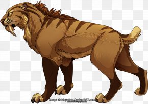 Tiger - Sabertooth Tiger Lion Sabretooth Felidae PNG