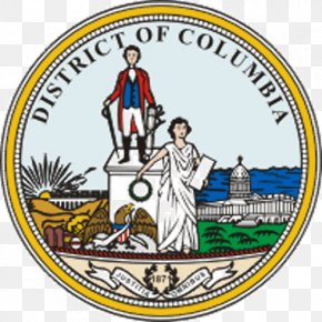 Seal - Seal Of The District Of Columbia United States Capitol Mayor Of The District Of Columbia Lady Justice PNG