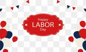 Balloon Border Labor Day Poster - Poster Labor Day International Workers Day PNG