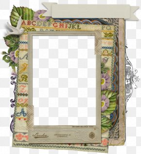 Collage - Picture Frames Paper Shabby Chic Scrapbooking Embroidery PNG