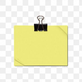 Clip And Yellow Sticky Notes - Post-it Note Sticker PNG