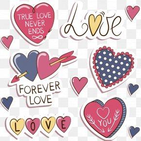 Valentine's Day Sticker - Love Valentines Day Sticker Label PNG