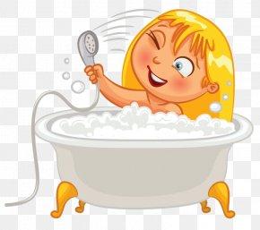 Bathtub Clip Art - Bathing Child Bathroom Clip Art PNG