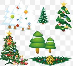 Christmas Cedar Tree Vector Cartoon - Christmas Tree PNG
