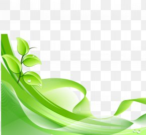 Green Leaves Background Vector Dynamic Material - Green Euclidean Vector PNG