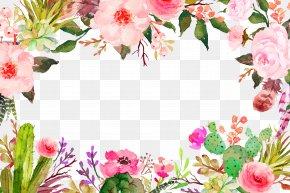 Purple Fresh Flowers Border Texture - Flower Clip Art PNG