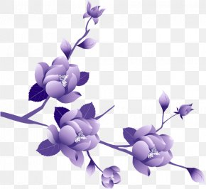Transparent Painted Large Purple Flower Clipsrt - Purple Flower Clip Art PNG