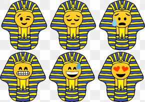 Pharaoh - Ancient Egypt Smiley Pharaoh Emoticon Clip Art PNG