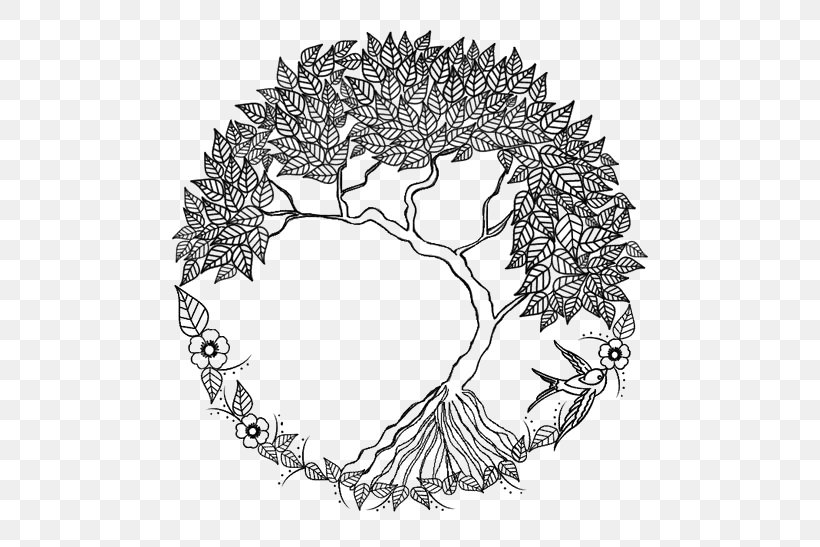 Tree Of Life Drawing Doodle Png 564x547px Drawing Art