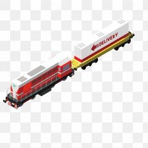 Fine Train - Train Railroad Car Logistics PNG