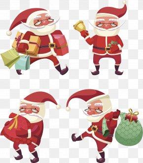 Santa Claus Presents - Santa Claus Gift Christmas Illustration PNG