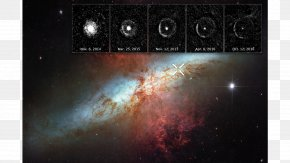 Powder Explosion - Supernova Light Echo Messier 82 Hubble Space Telescope SN 2014J PNG
