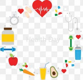 Flat Healthy Day Decoration - Health Nutrition Diabetes Mellitus Disease Medicine PNG