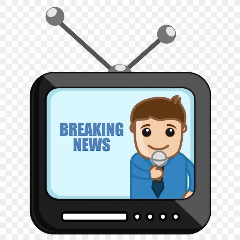 News Presenter Cartoon Journalist Clip Art, PNG, 1000x1000px, News Presenter, Brand, Breaking News, Broadcaster, Cartoon Download Free