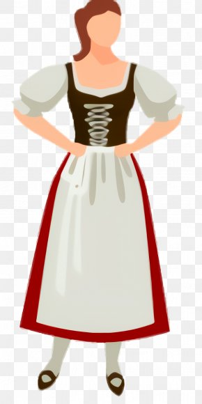Victorian Fashion Formal Wear - White Day PNG