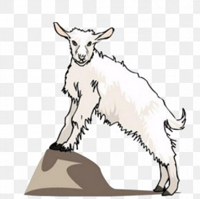 Hand-painted Goat - Goat Sheep Animation Clip Art PNG