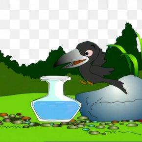 Raven Drinking Cartoon - U4e4cu9e26u559du6c34 Drinking Water PNG