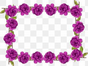 Purple Border Frame Transparent Picture - Purple Flower Clip Art PNG