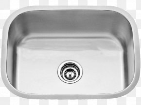 Sink - Kitchen Sink Stainless Steel Strainer PNG