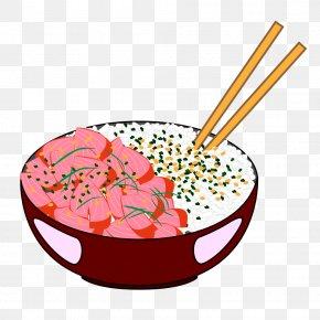 Rice Bowl - Poke Cuisine Of Hawaii Bowl Sushi Rice PNG