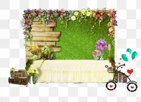 Sen-based Theme Wedding Attendance Area PNG