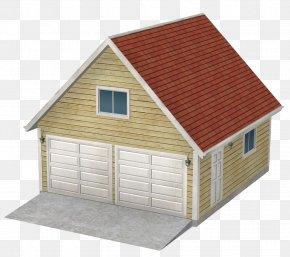 Red Brick Parking Garage - Roof Garage Brick Tile PNG