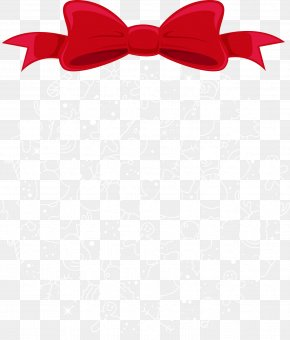 Christmas Red Bow With Snowflakes - Christmas Snowflake PNG