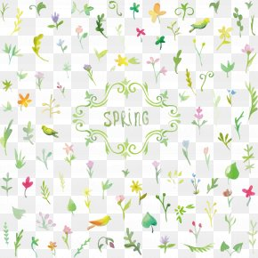 Spring Flowers Background PNG