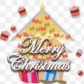 Lovely Christmas Tree Vector Material - Cupcake Euclidean Vector PNG