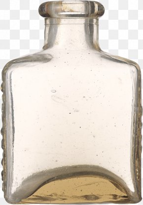 Square Transparent Glass Bottle - Glass Bottle Transparency And Translucency PNG