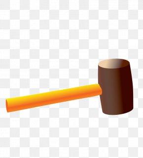 Vector Golden Hammer - Designer Smartisan PNG
