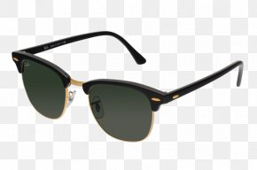 Luxury Three-dimensional Gold Frame - Goggles Sunglasses Robe Ray-Ban PNG