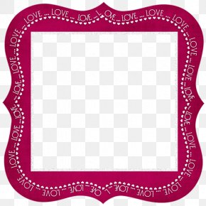 Purple Frame Material - Picture Frame Photography Valentines Day Clip Art PNG