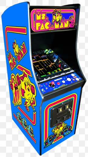 80s Arcade Games - Ms. Pac-Man Pac-Man & Galaga Dimensions Golden Age Of Arcade Video Games PNG