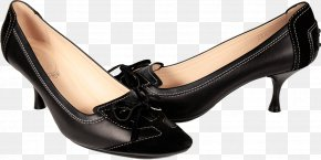 Black Women Shoes Image - Court Shoe Leather PNG