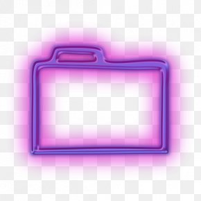 Icon Folder - Directory Tab Neon Icon PNG