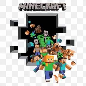 Wall Decal - Minecraft Paper Wall Decal Sticker PNG