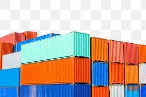Color Freight Container - Shipping Container Intermodal Container Cargo Container Port PNG