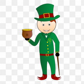 Saint Patrick's Day - Holiday Saint Patrick's Day Leprechaun The Night Before St. Patrick's Day Christmas PNG