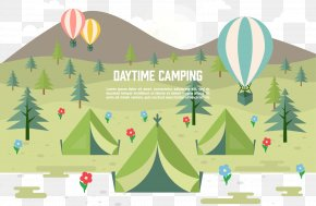 Field Camping - Camping Tent Outdoor Recreation Illustration PNG