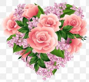 HEART FLOWER - Flower Heart Clip Art PNG
