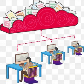 Vector Red Cloud - Cloud Computing Big Data Computer File PNG