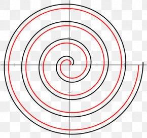 Spiral Galaxy - Archimedean Spiral Unit Circle Involute PNG