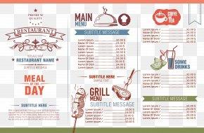 Color Menu Design Of Restaurant - Cafe Menu Restaurant PNG