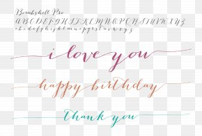 Beautiful Bombshell - Handwriting Calligraphy Typeface Typography Font PNG