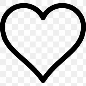 Outline Heart Shape Or Love - Heart Desktop Wallpaper Clip Art PNG