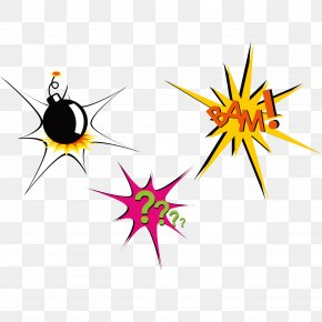 Explosion Tips Poster Decoration Elements - Poster Clip Art PNG