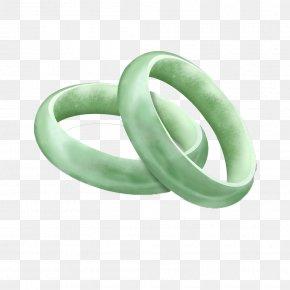 3D Bracelet - Bangle Ring Green Jade PNG